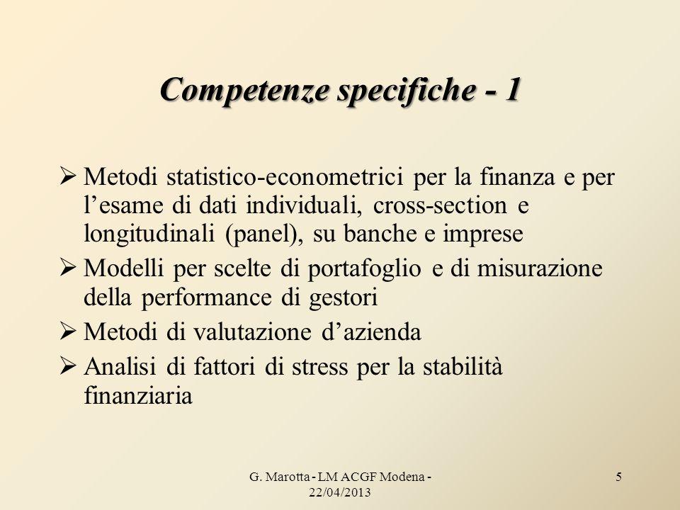 Competenze specifiche - 1