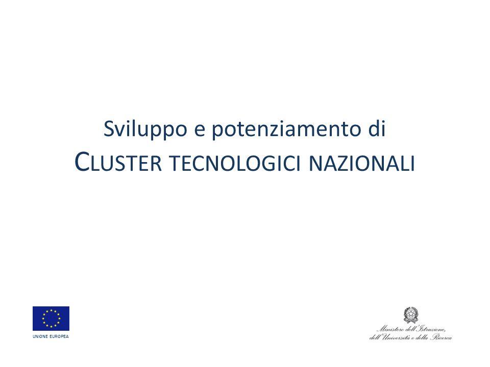 Sviluppo e potenziamento di Cluster tecnologici nazionali