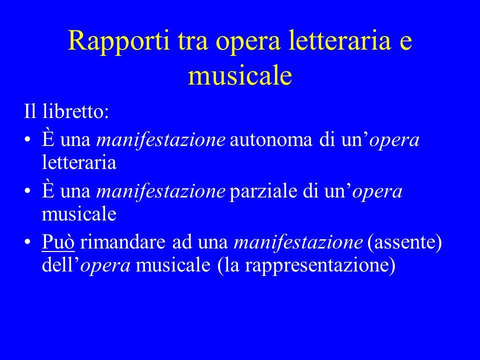 Rapporti tra opera letteraria e musicale