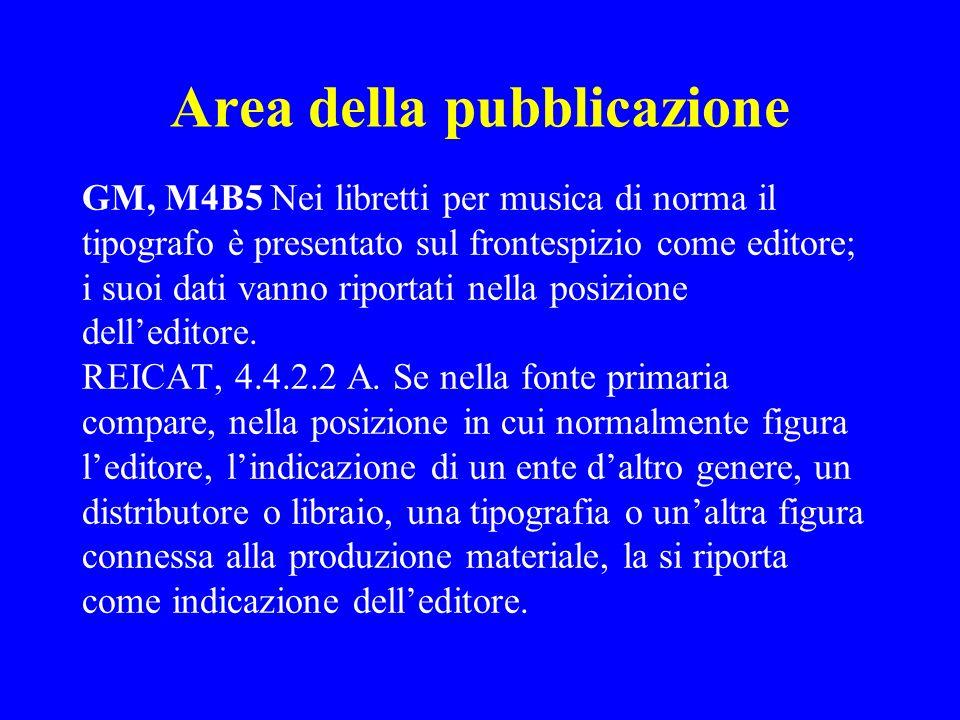 Area della pubblicazione