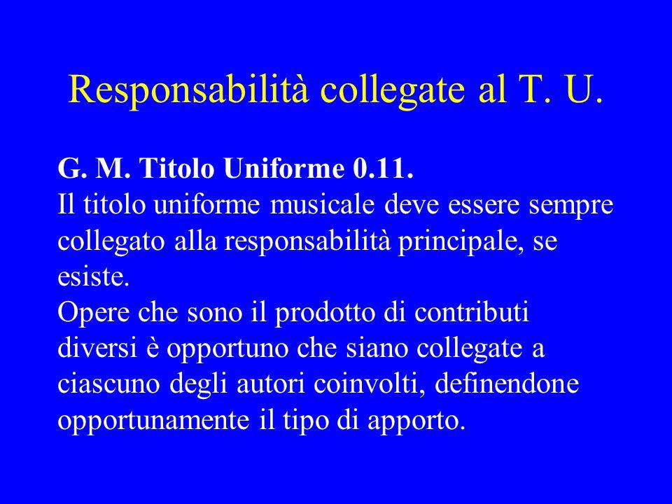 Responsabilità collegate al T. U.