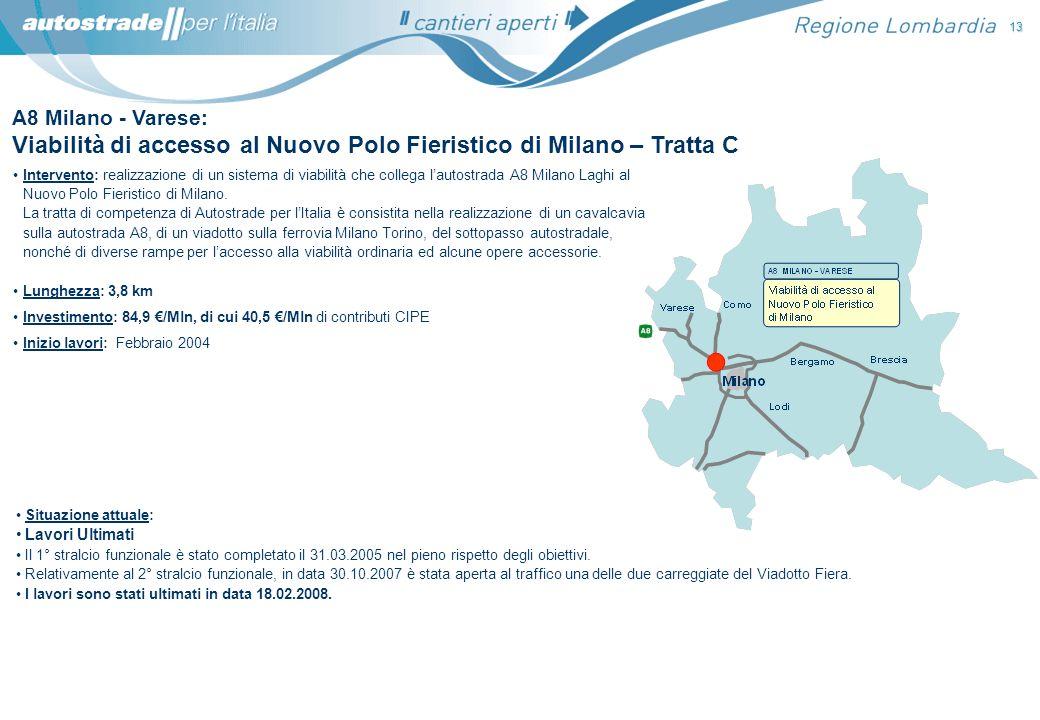 Viabilità di accesso al Nuovo Polo Fieristico di Milano – Tratta C