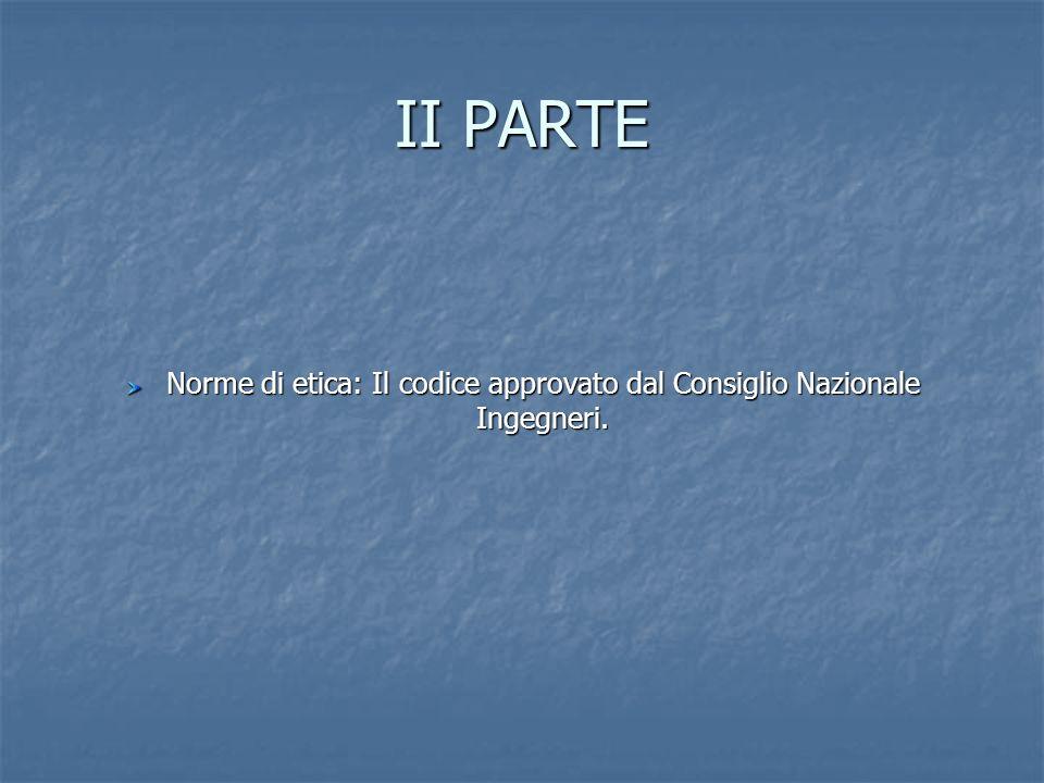 Norme di etica: Il codice approvato dal Consiglio Nazionale Ingegneri.