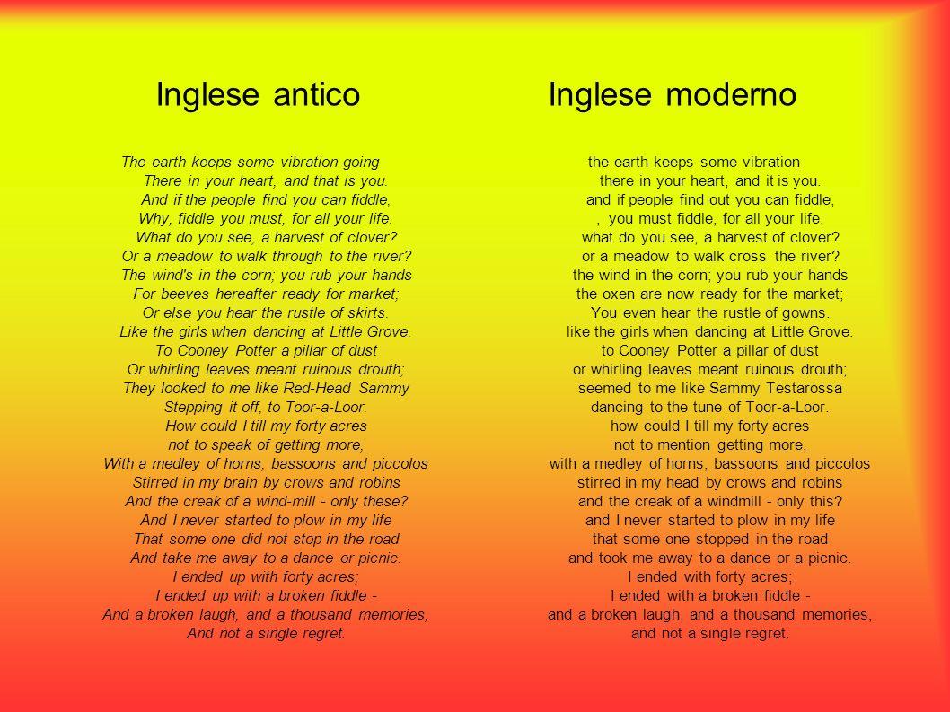 Inglese antico Inglese moderno