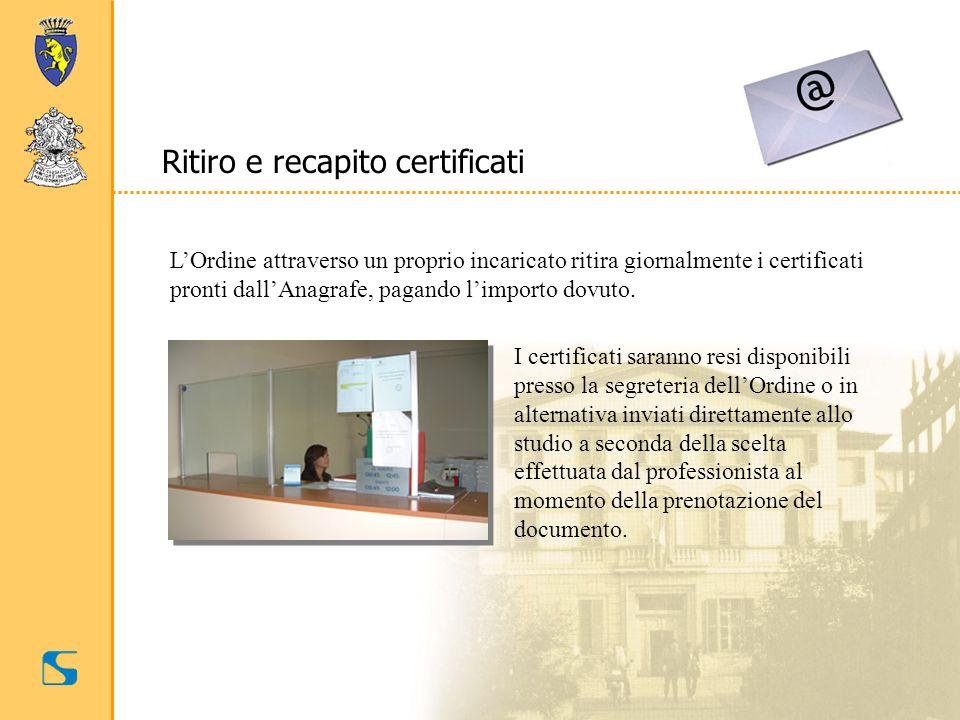 Ritiro e recapito certificati