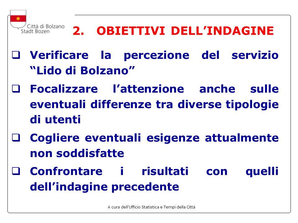 2. OBIETTIVI DELL'INDAGINE