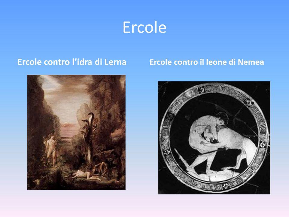 Ercole Ercole contro l'idra di Lerna Ercole contro il leone di Nemea