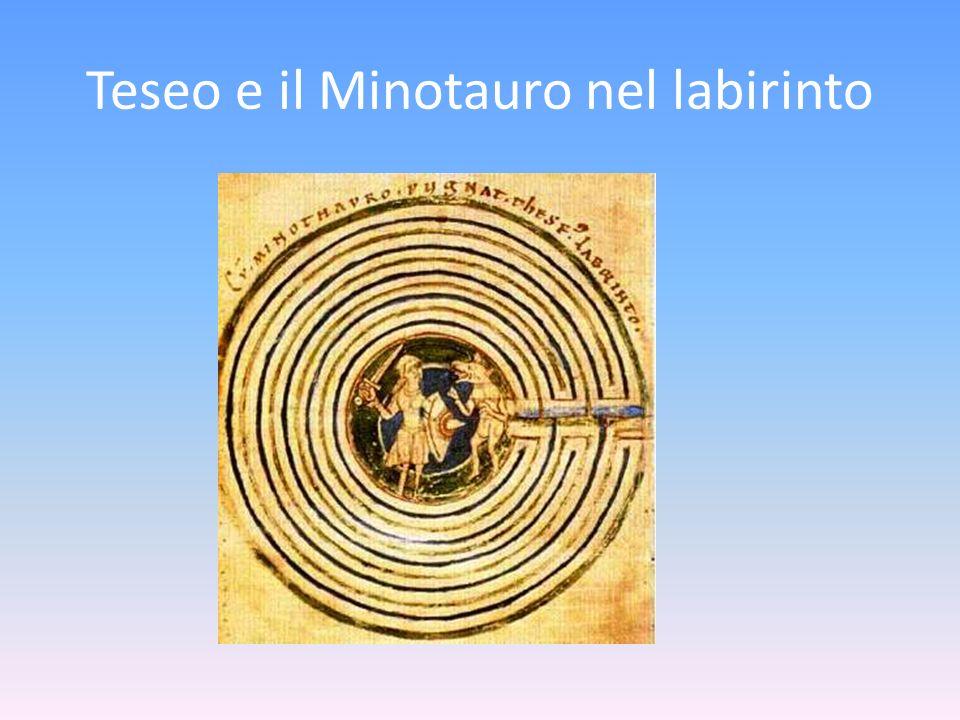 Teseo e il Minotauro nel labirinto
