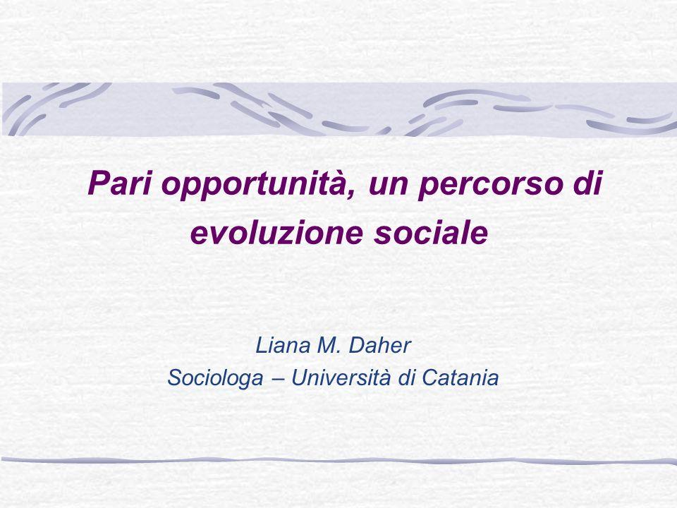 Pari opportunità, un percorso di evoluzione sociale