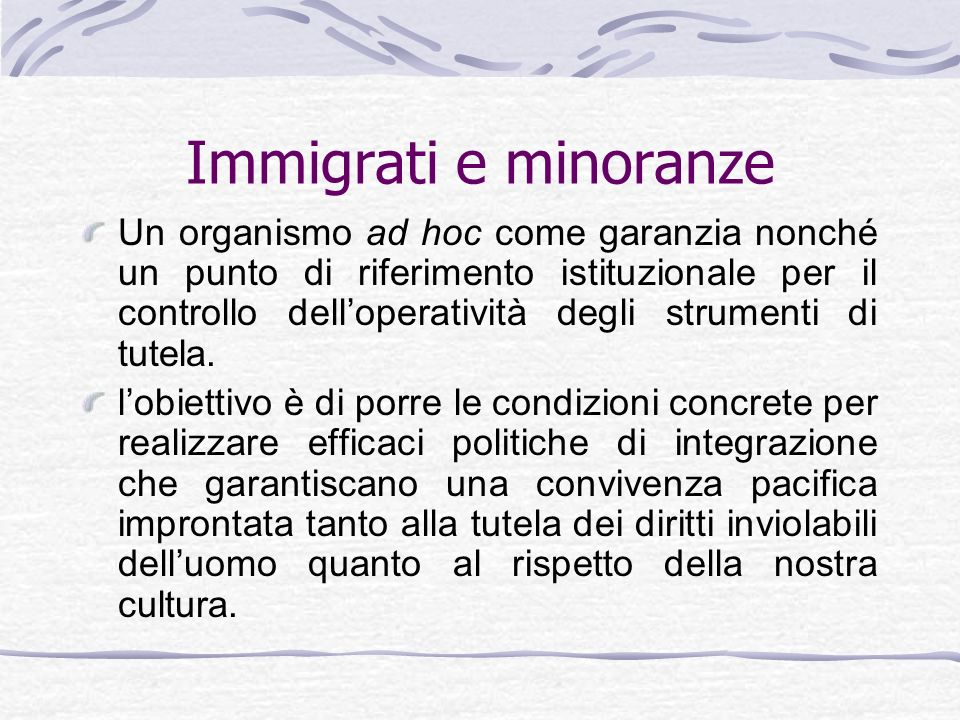 Immigrati e minoranze