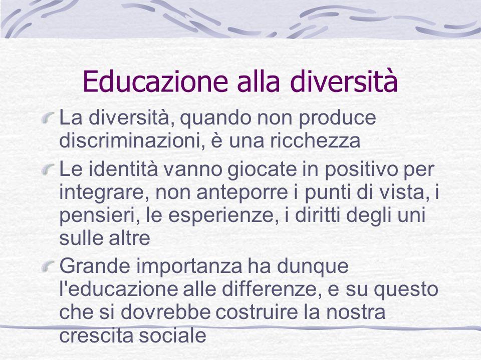 Educazione alla diversità