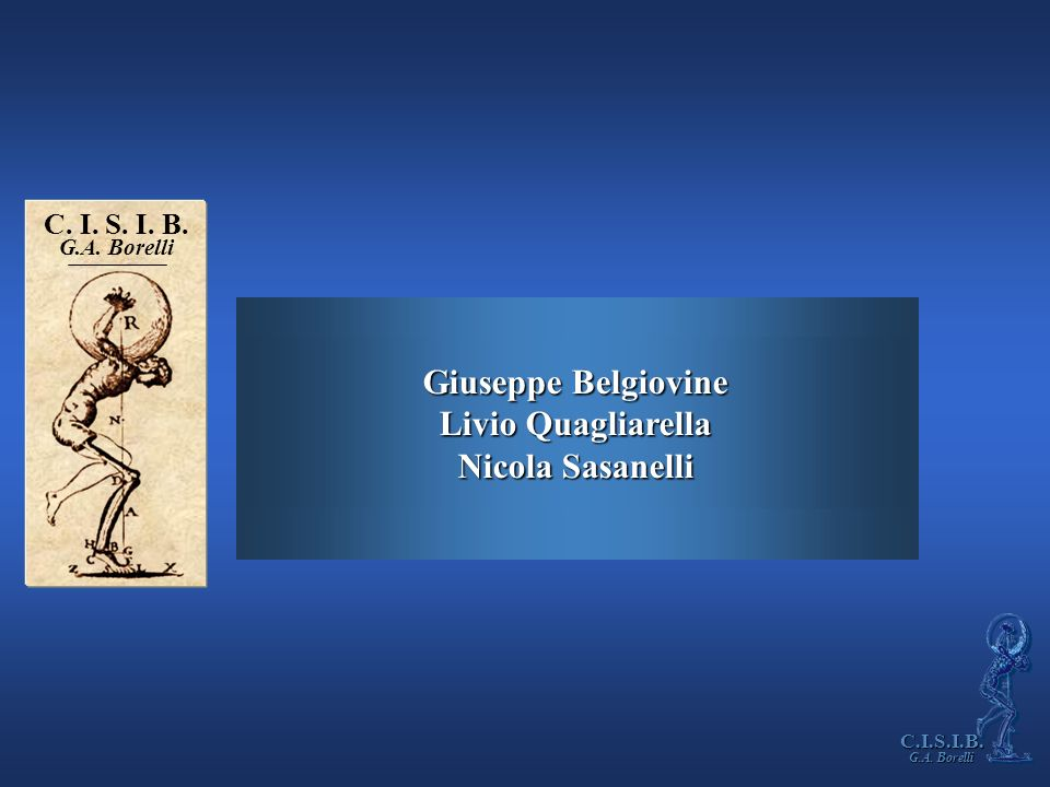 Giuseppe Belgiovine Livio Quagliarella Nicola Sasanelli