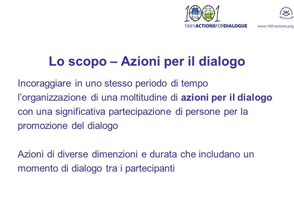 Lo scopo – Azioni per il dialogo
