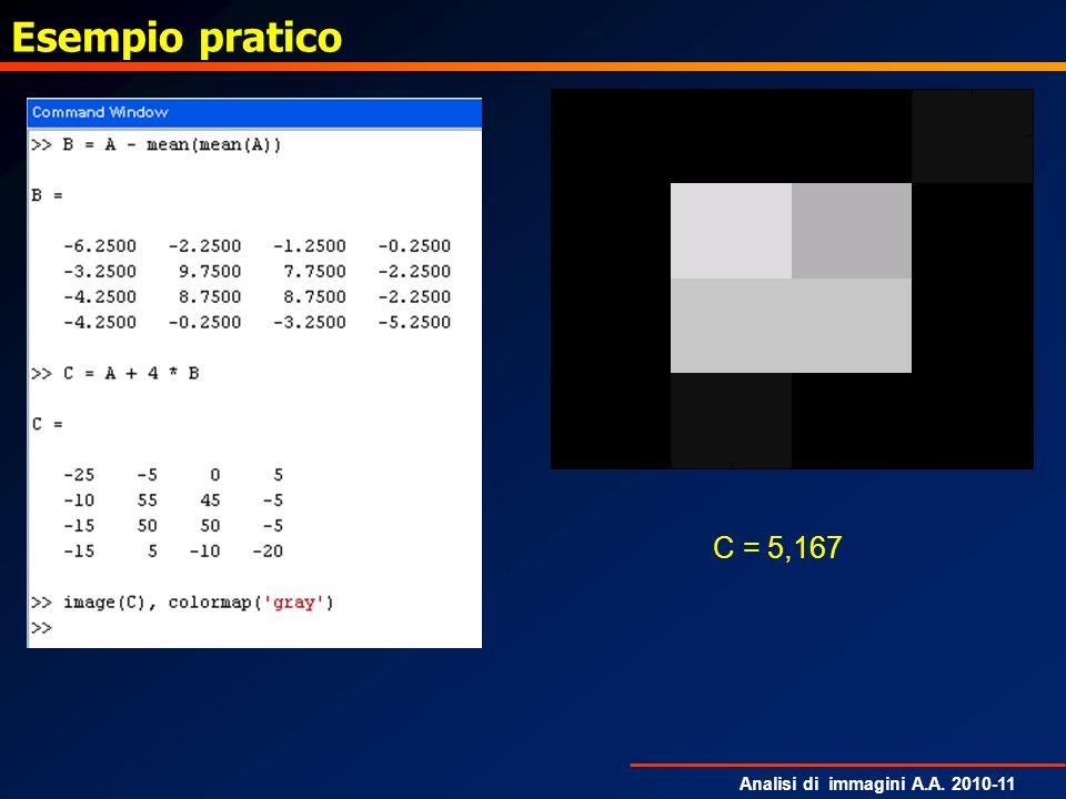 Esempio pratico C = 5,167