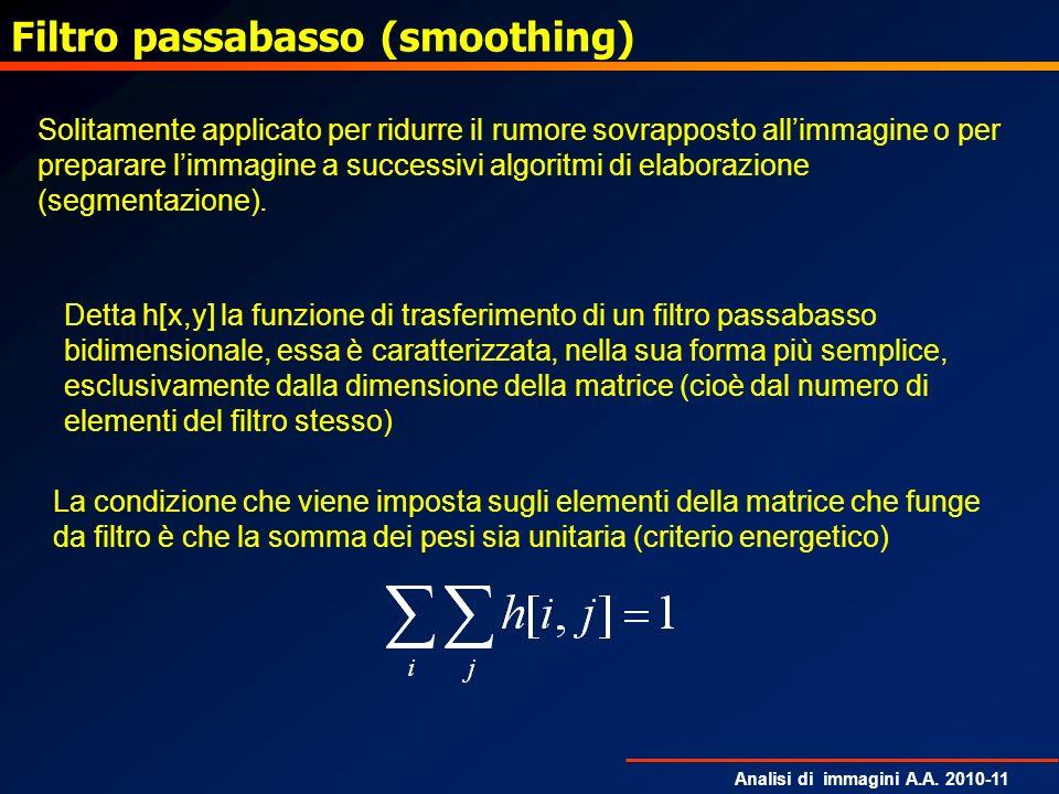 Filtro passabasso (smoothing)
