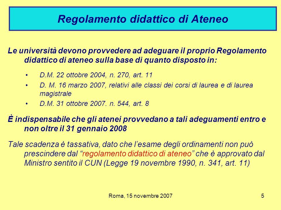 Regolamento didattico di Ateneo