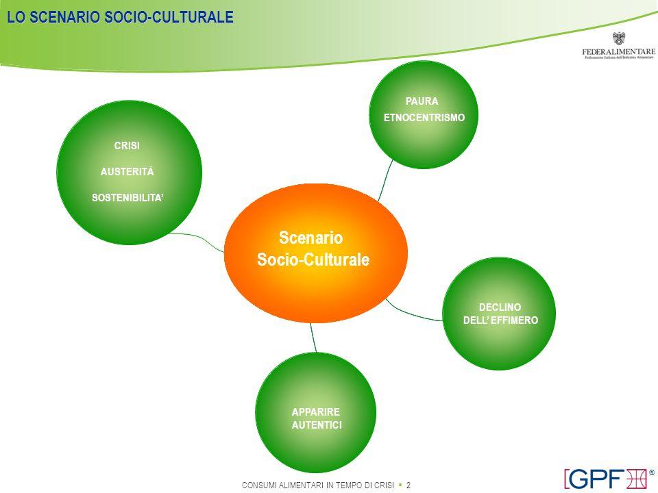 LO SCENARIO SOCIO-CULTURALE