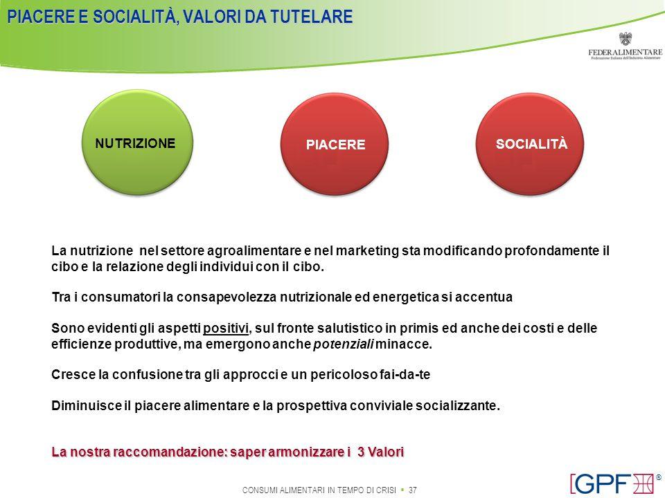 PIACERE E SOCIALITÀ, VALORI DA TUTELARE