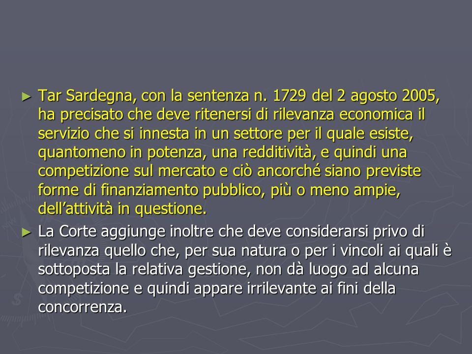 Tar Sardegna, con la sentenza n