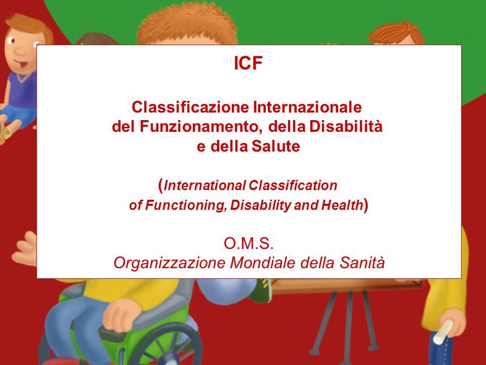 ICF Classificazione Internazionale del Funzionamento, della Disabilità