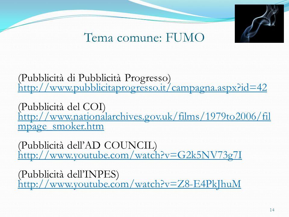Tema comune: FUMO