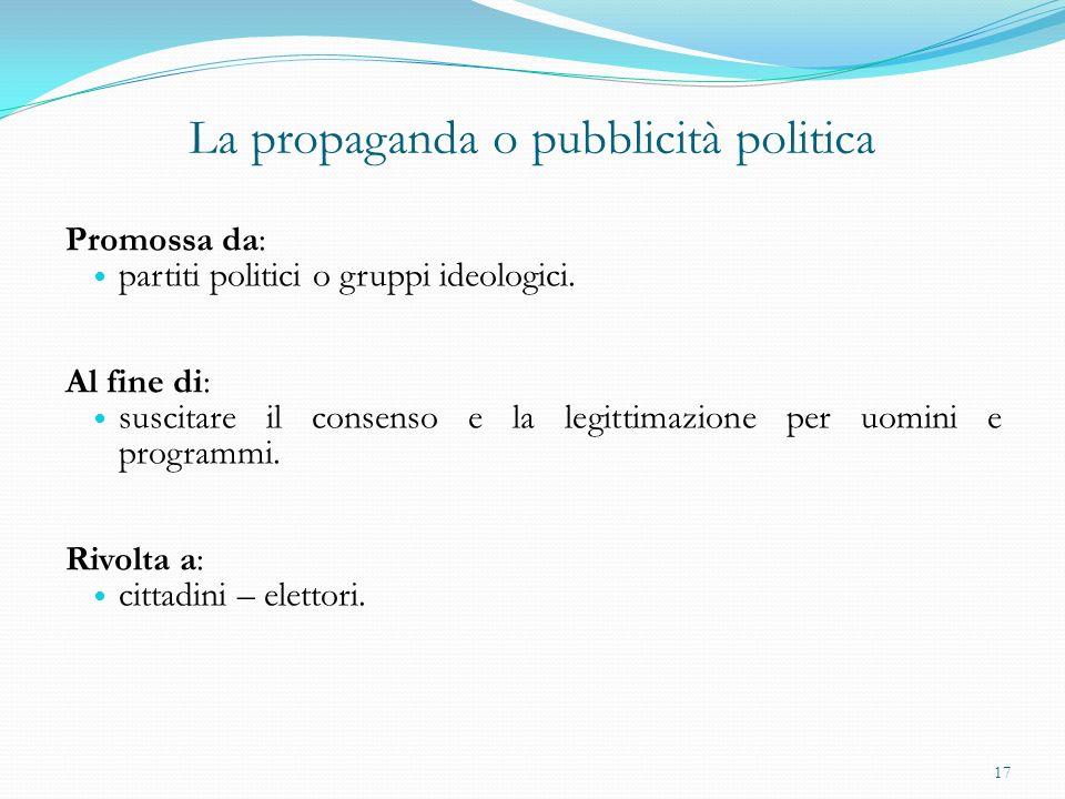 La propaganda o pubblicità politica