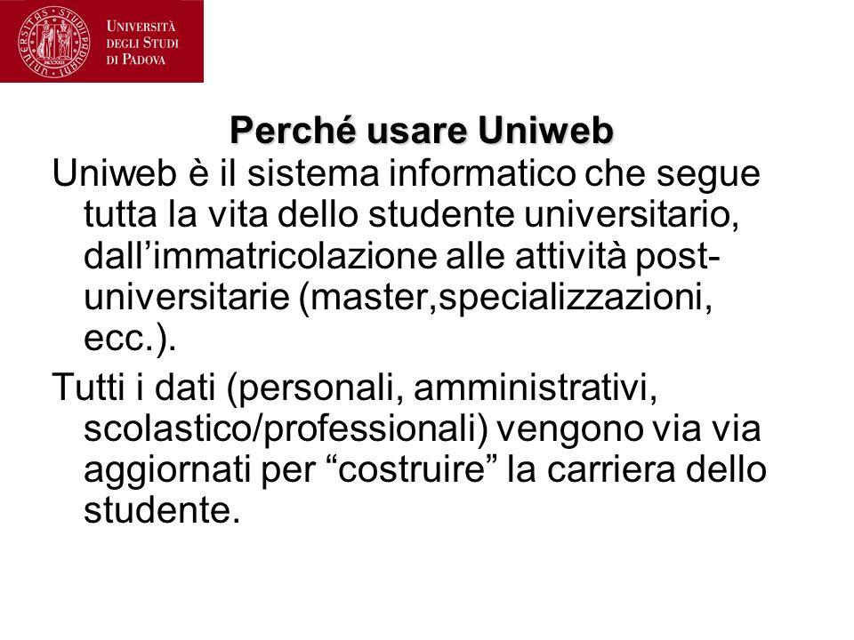 Perché usare Uniweb