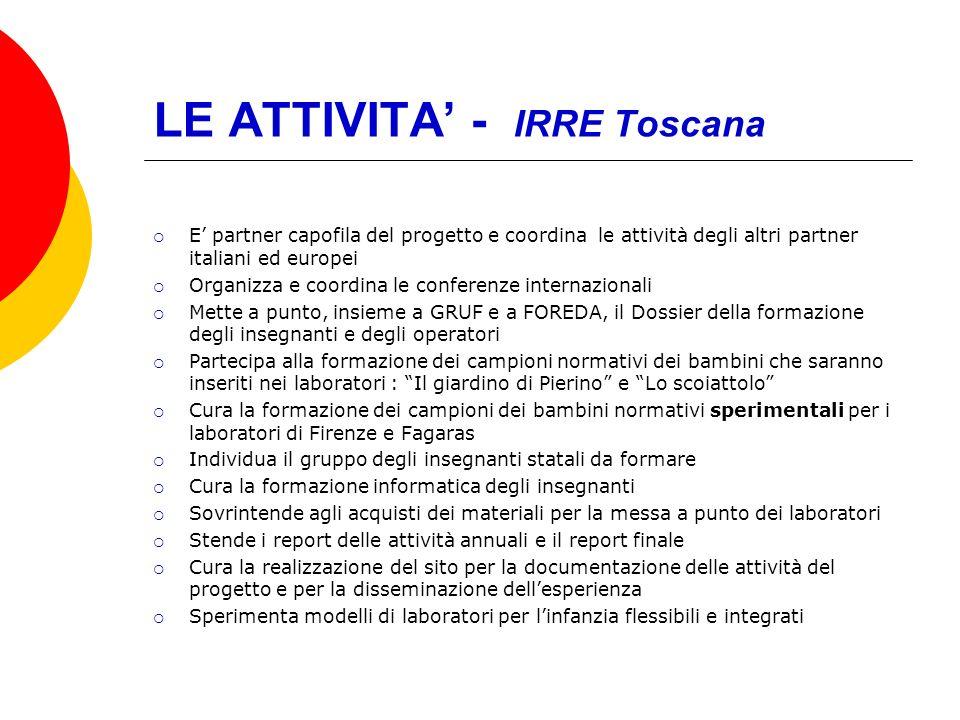 LE ATTIVITA' - IRRE Toscana