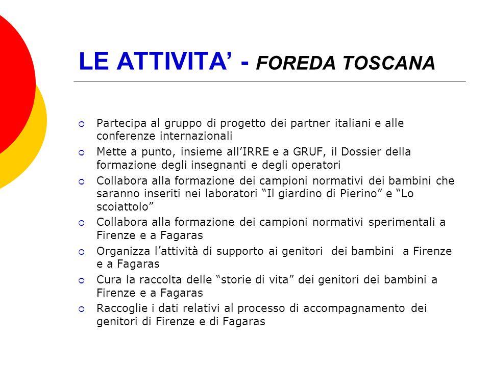 LE ATTIVITA' - FOREDA TOSCANA