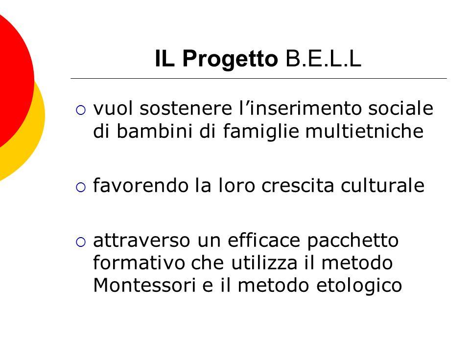 IL Progetto B.E.L.L vuol sostenere l'inserimento sociale di bambini di famiglie multietniche. favorendo la loro crescita culturale.