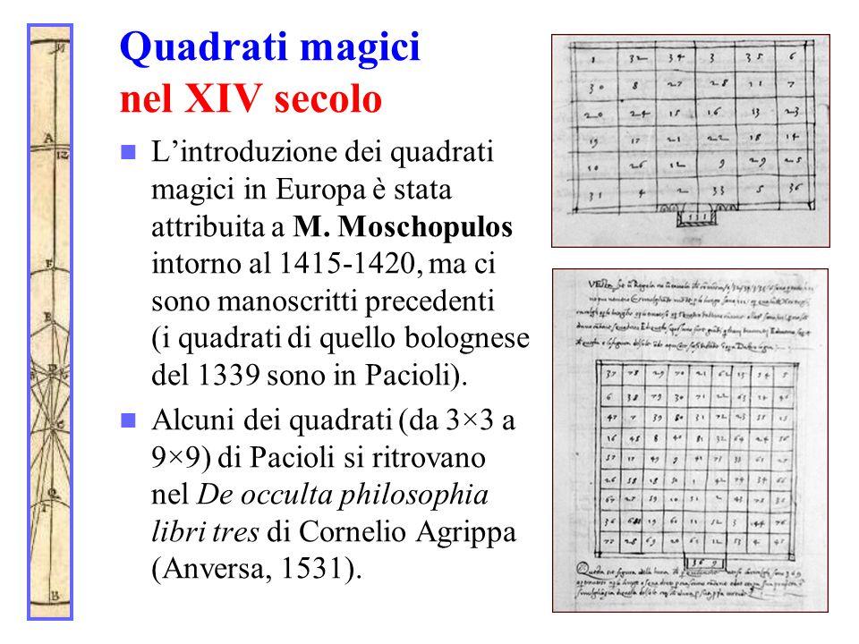 Quadrati magici nel XIV secolo