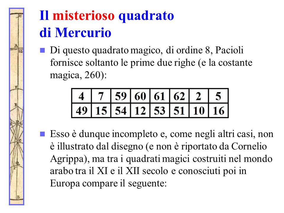 Il misterioso quadrato di Mercurio