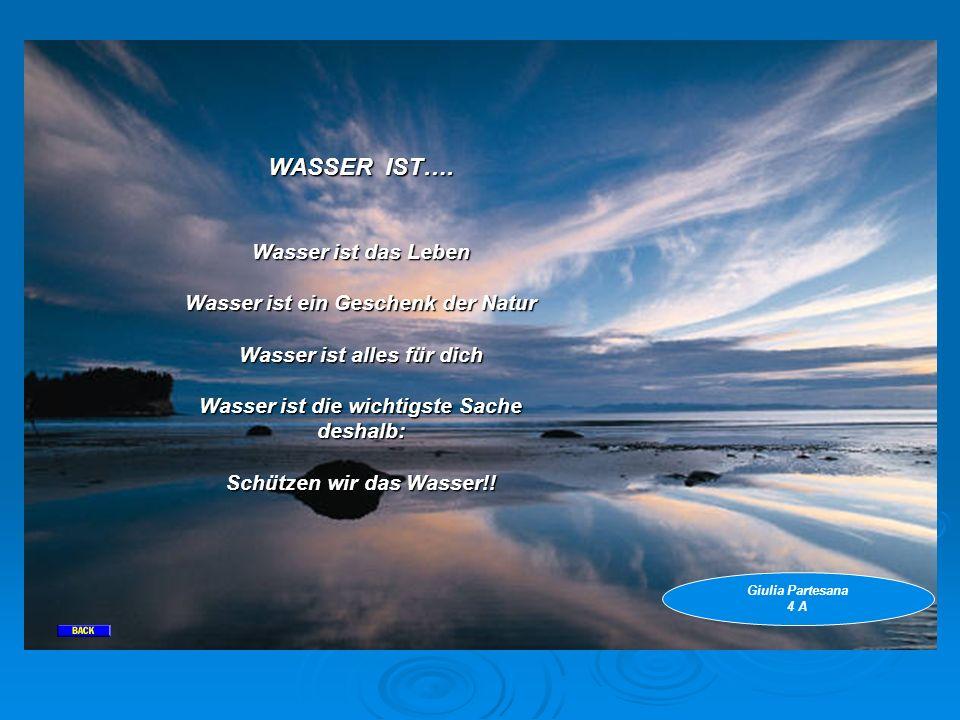 WASSER IST…. Wasser ist das Leben Wasser ist ein Geschenk der Natur