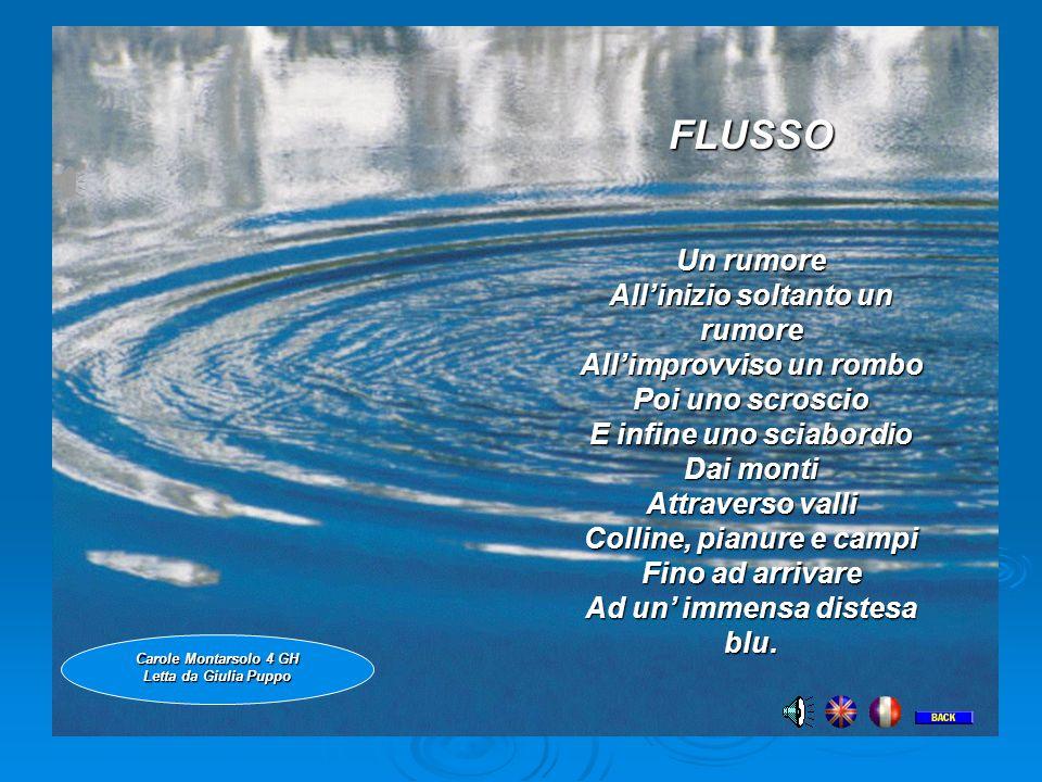 FLUSSO FLUSSO Un rumore All'inizio soltanto un rumore