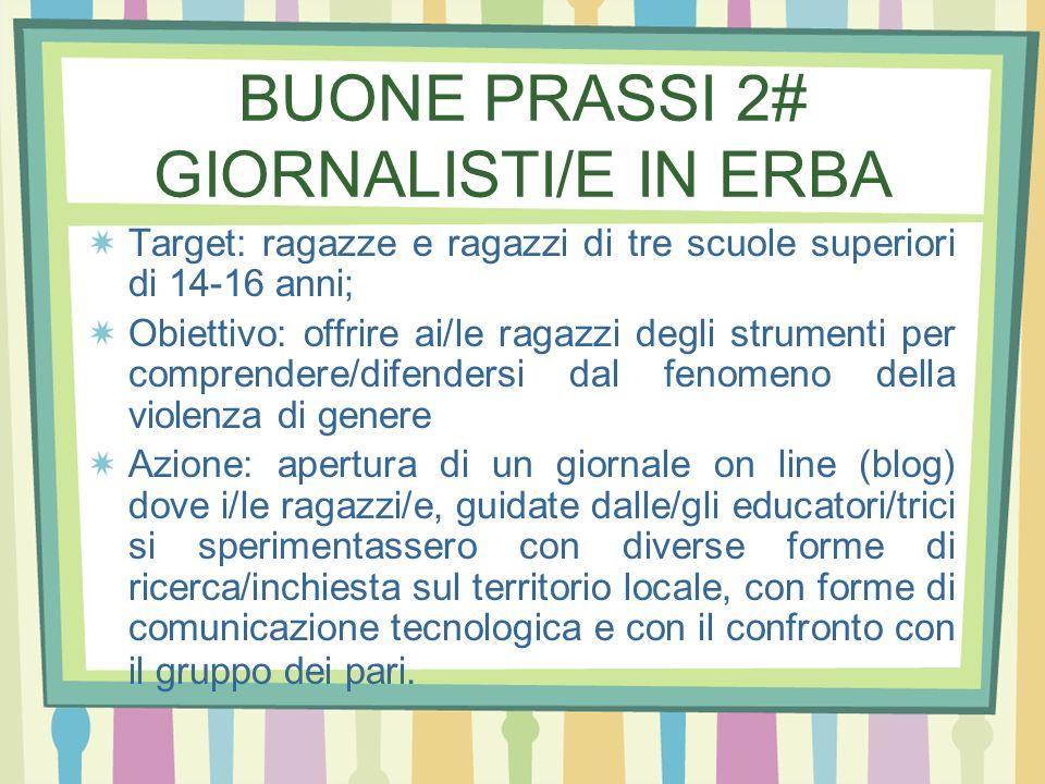 BUONE PRASSI 2# GIORNALISTI/E IN ERBA