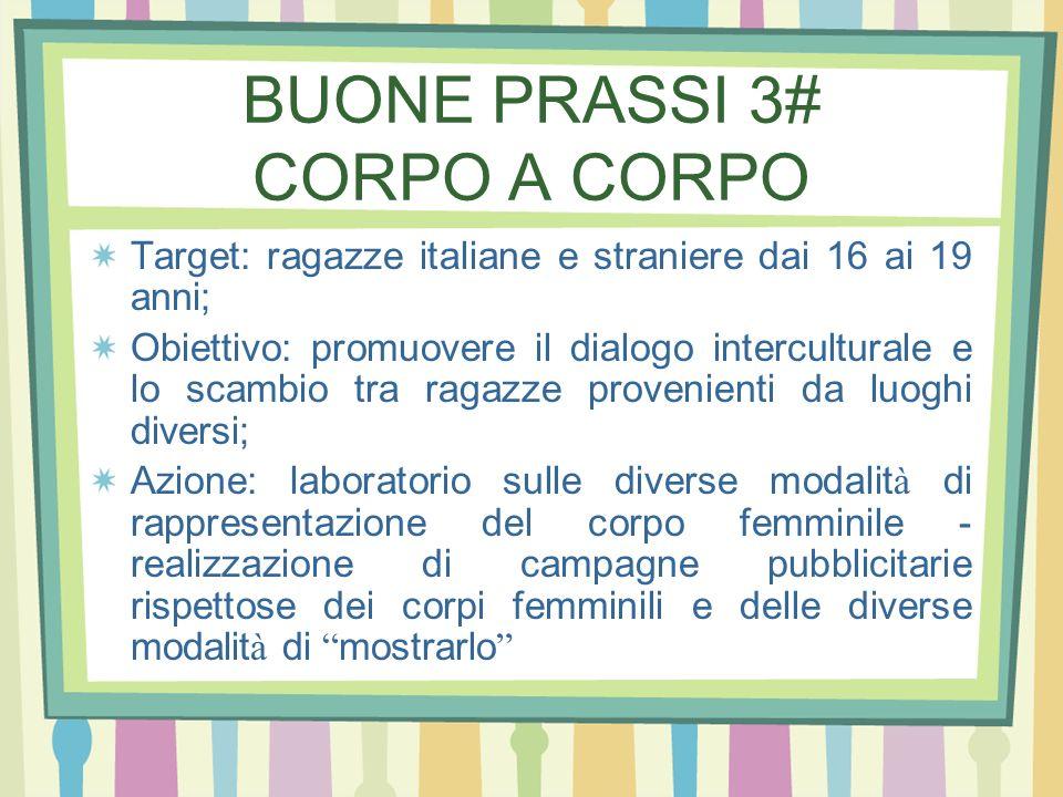BUONE PRASSI 3# CORPO A CORPO
