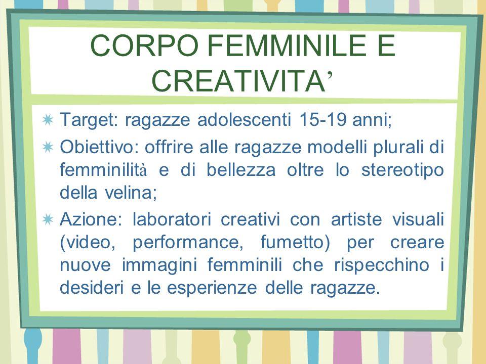 CORPO FEMMINILE E CREATIVITA'