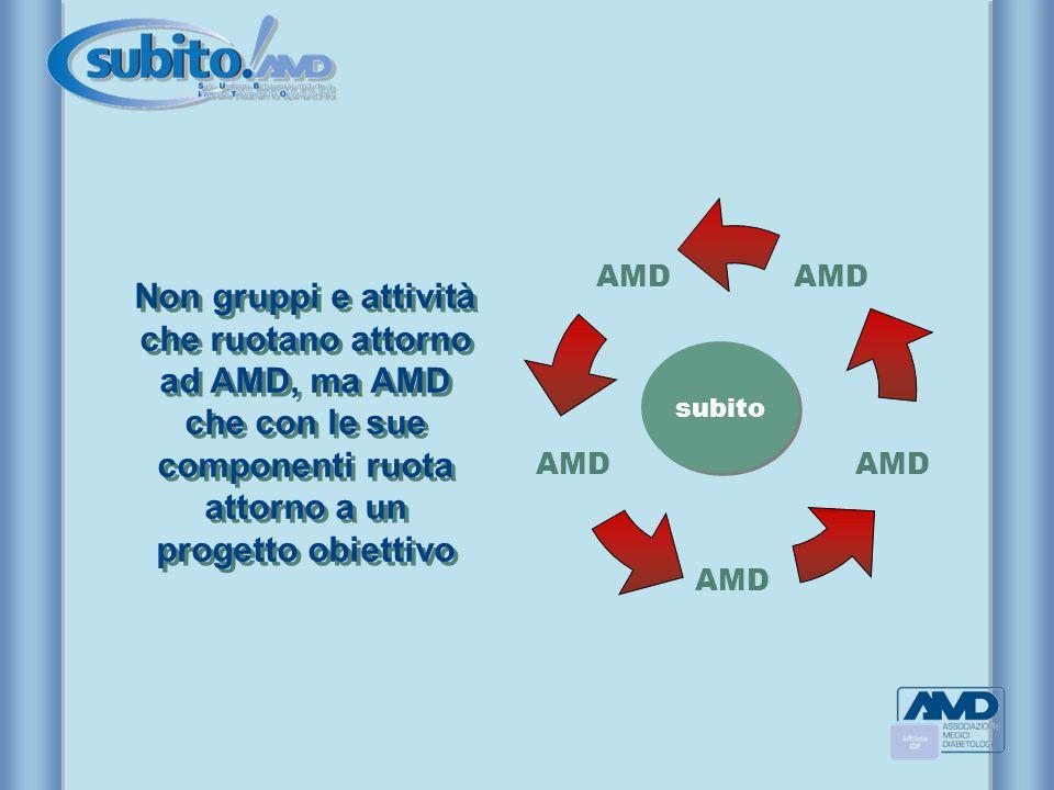 Non gruppi e attività che ruotano attorno ad AMD, ma AMD che con le sue componenti ruota attorno a un progetto obiettivo