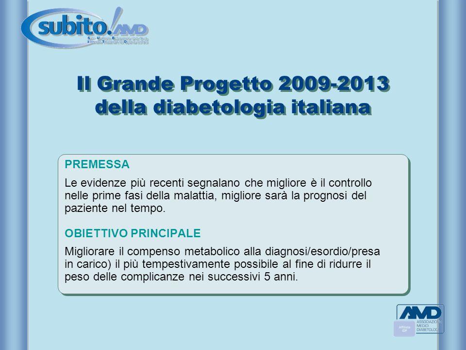 Il Grande Progetto 2009-2013 della diabetologia italiana