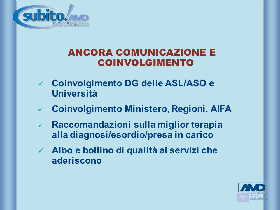 ANCORA COMUNICAZIONE E COINVOLGIMENTO