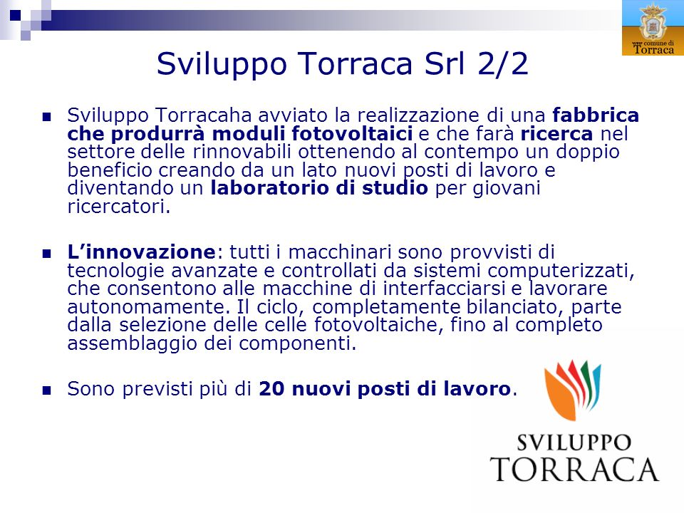 Sviluppo Torraca Srl 2/2