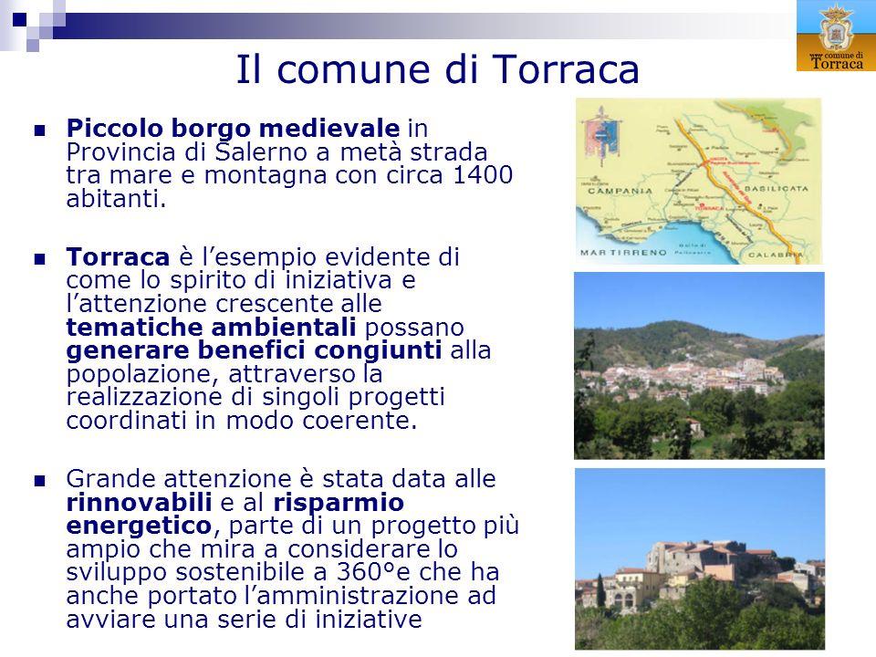 Il comune di TorracaPiccolo borgo medievale in Provincia di Salerno a metà strada tra mare e montagna con circa 1400 abitanti.