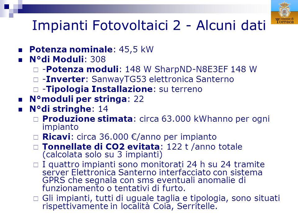 Impianti Fotovoltaici 2 - Alcuni dati