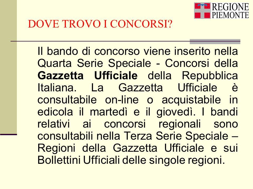 DOVE TROVO I CONCORSI