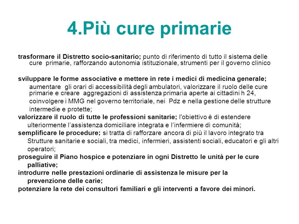 4.Più cure primarie