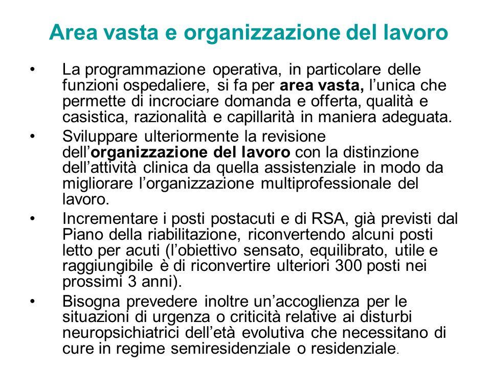 Area vasta e organizzazione del lavoro