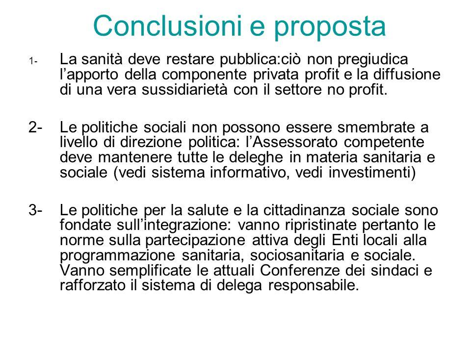 Conclusioni e proposta