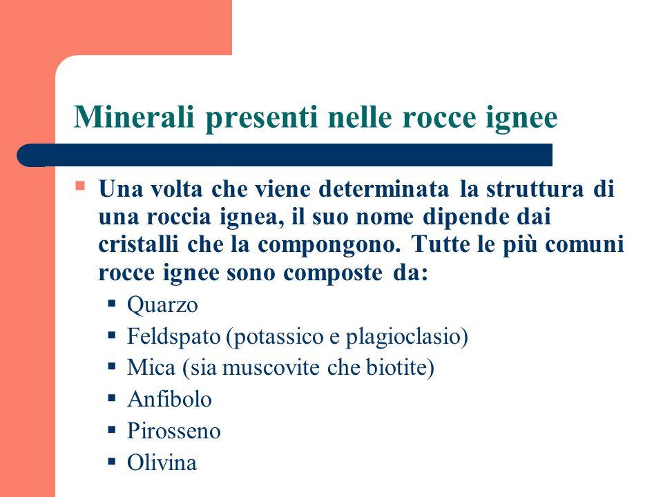 Minerali presenti nelle rocce ignee