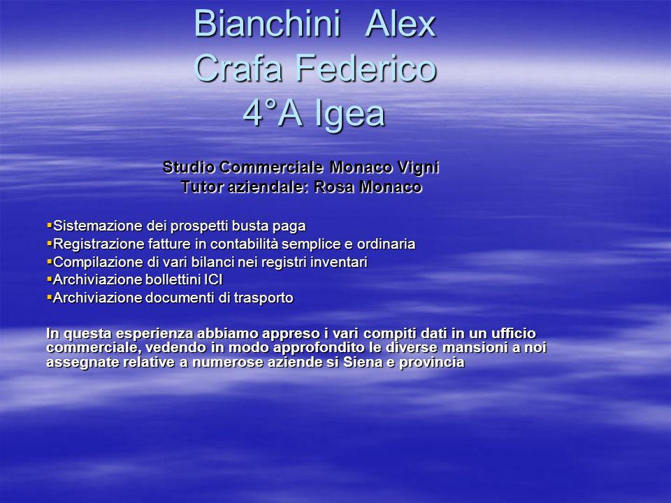 Bianchini Alex Crafa Federico 4°A Igea