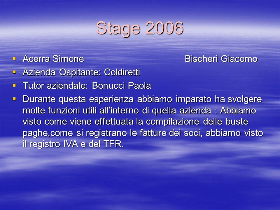 Stage 2006 Acerra Simone Bischeri Giacomo